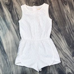 NWOT White Lace Romper by Osh Kosh